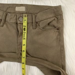 MOTHER Pants - Mother Crackle Tan The Looker Faux Suede Pants